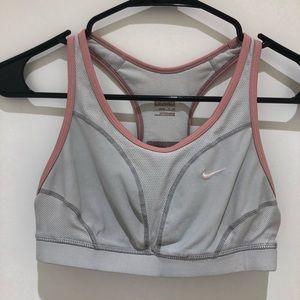 Nike Grey Pink Sports Bra Small
